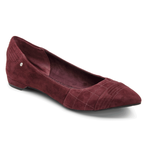 Ashika Quilted Ballet Women's Flats in Brown